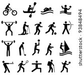 sports icon set in black | Shutterstock .eps vector #93848494