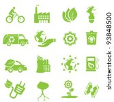 ecology and environment icon set | Shutterstock .eps vector #93848500