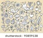 notebook doodle spring time... | Shutterstock .eps vector #93859138
