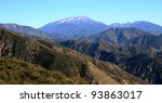 Panorama Of Mountains And Sky...
