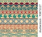 vector set of vintage borders... | Shutterstock .eps vector #93871117