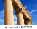 ancient roman time town in... | Shutterstock . vector #93873352
