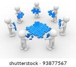 3d people   human character  ... | Shutterstock . vector #93877567