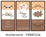 sweet card collection | Shutterstock .eps vector #93885226