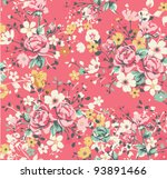 wallpaper vintage rose pattern... | Shutterstock .eps vector #93891466