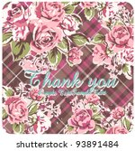 rose with check card | Shutterstock .eps vector #93891484