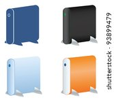 external hard drive icons set | Shutterstock .eps vector #93899479