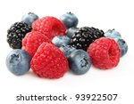 Mix of fresh berry - stock photo