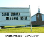 Funny Sign At A Church.