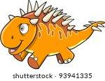 Crazy Insane Orange Dinosaur Vector illustration - stock vector