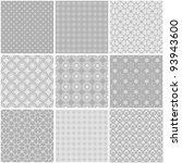 nine different seamless... | Shutterstock .eps vector #93943600