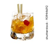 old fashioned cocktail isolated ... | Shutterstock . vector #93944692