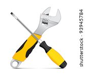 vector wrench and screwdriver | Shutterstock .eps vector #93945784