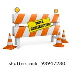 under construction barrier with ... | Shutterstock . vector #93947230