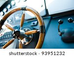 Steering Wheel On A Luxury...