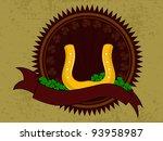 horse shoe having on ribbon... | Shutterstock .eps vector #93958987