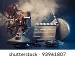 filmmaking concept scene with... | Shutterstock . vector #93961807