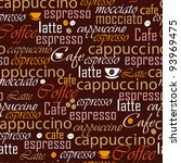 coffee name seamless | Shutterstock .eps vector #93969475