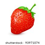 Ripe strawberry - stock vector