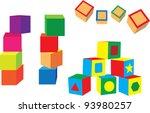 different blocks on a white...   Shutterstock .eps vector #93980257