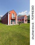 exterior new villa in classic... | Shutterstock . vector #93998380