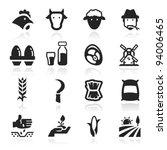 Farm Icons Set Elegant Series