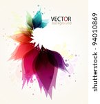 colorful floral abstract... | Shutterstock .eps vector #94010869