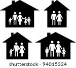 silhouette family icon and... | Shutterstock .eps vector #94015324