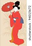 Young Japanese Girl In Kimono ...