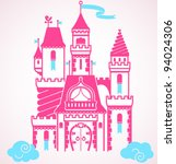 vector fairy tale castle | Shutterstock .eps vector #94024306