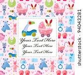 baby card | Shutterstock .eps vector #94043281