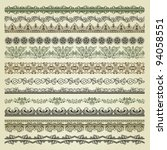 set of vintage borders. could...   Shutterstock .eps vector #94058551