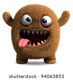 Stock photo happy cartoon monster 94065853