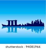 detailed vector singapore... | Shutterstock .eps vector #94081966