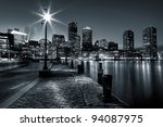 Black And White Shot Of Boston...