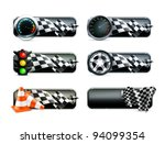 racing banners set  vector | Shutterstock .eps vector #94099354