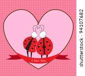 ladybugs in love   Shutterstock .eps vector #94107682