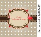 valentine vintage | Shutterstock .eps vector #94107697