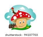 mushroom house | Shutterstock .eps vector #94107703
