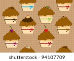 funny muffins | Shutterstock .eps vector #94107709