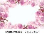 beautiful blur pink flowers... | Shutterstock . vector #94110517