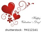 valentine s day card. vector