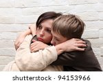 violence  in the family. mother ... | Shutterstock . vector #94153966