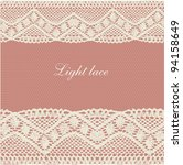 pink beige pale lace background | Shutterstock .eps vector #94158649