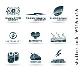set of electric energy icons.... | Shutterstock .eps vector #94165516