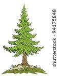 fir tree   cartoon clip art | Shutterstock .eps vector #94175848
