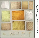 scrapbooking set. old paper... | Shutterstock .eps vector #94176397