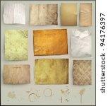 scrapbooking set. old paper... | Shutterstock .eps vector #94176397