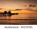 Sunset At The Naples Pier In...