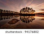 Sunset On Long Pines Key Lake...